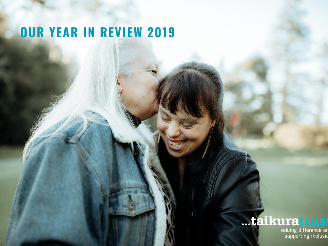 2019 Year in Review cover of a young lady with her mum